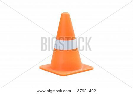 Traffic cone, traffic cone isolated on white background.