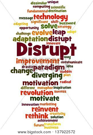 Disrupt, Word Cloud Concept 2