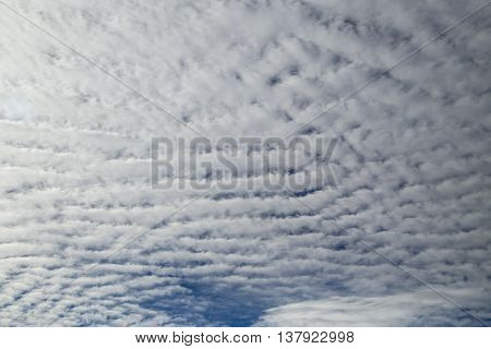 beautiful cloudy sky background ( scattered clouds background )