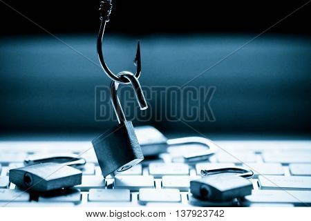 Computer threat / Phishing attack computer system