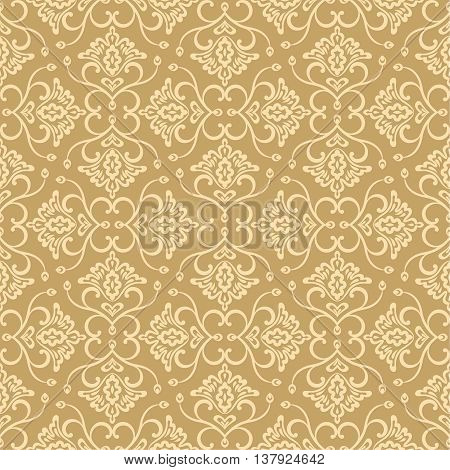 Vector seamless pattern. Luxury elegant floral textures. Pattern can be used as background fabric print surface texture wrapping paper web page backdrop wallpaper and more