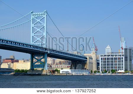Skyline of Philadelphia, Pennsylvania. No brand names or copyright objects.