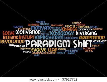 Paradigm Shift, Word Cloud Concept 9
