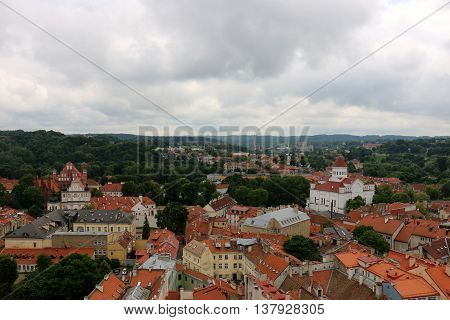 Vilnius panorama from the bell tower of St. John the Baptist Church