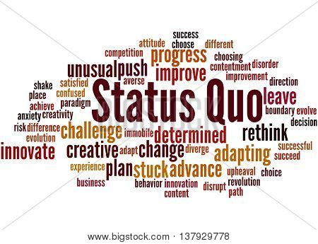 Status Quo, Word Cloud Concept