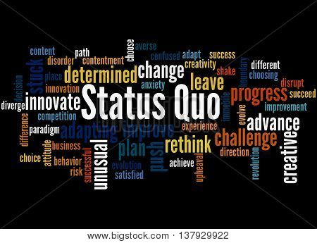 Status Quo, Word Cloud Concept 8