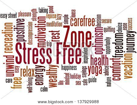 Stress Free Zone, Word Cloud Concept 2