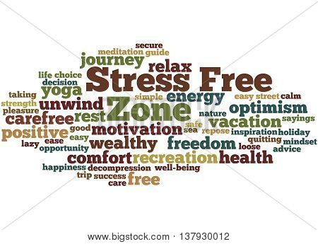 Stress Free Zone, Word Cloud Concept 3