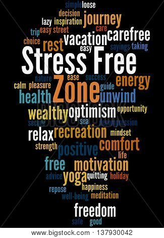 Stress Free Zone, Word Cloud Concept 5