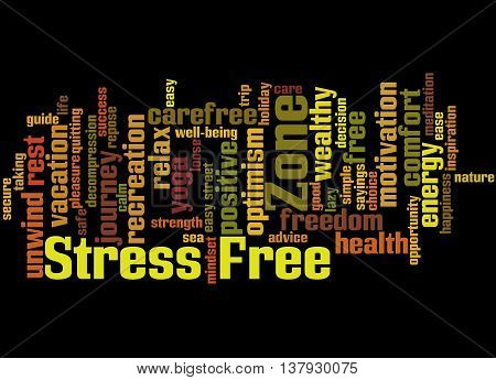 Stress Free Zone, Word Cloud Concept 7
