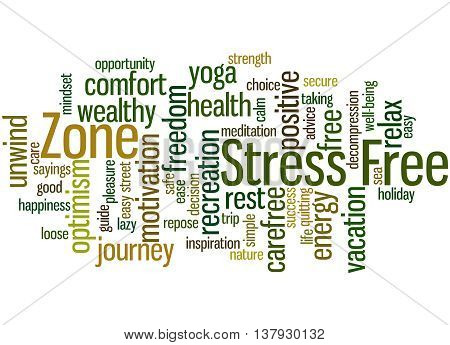 Stress Free Zone, Word Cloud Concept 9