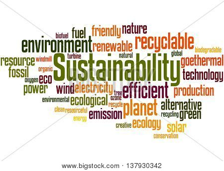 Sustainability, Word Cloud Concept 5