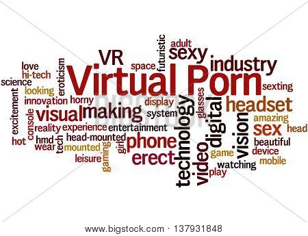 Virtual Porn, Word Cloud Concept 4