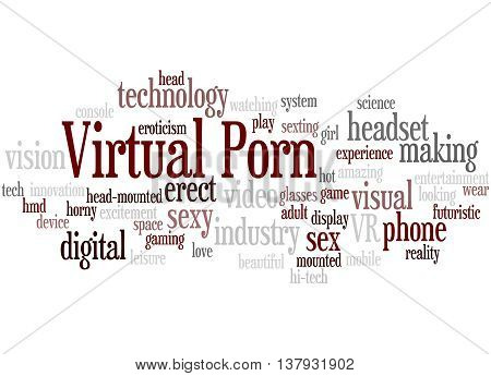 Virtual Porn, Word Cloud Concept 6