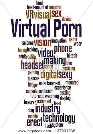 Virtual Porn, Word Cloud Concept 8