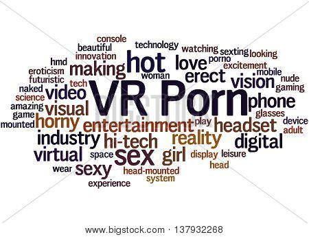 VR Porn word cloud concept on white background. poster