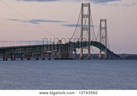 Mackinaw City Bridge Michigan
