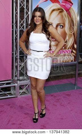 Khloe Kardashian at the Los Angeles premiere of 'The House Bunny' held at the Mann Village Theater in Westwood, USA on August 20, 2008.