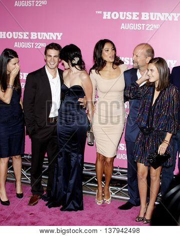 Micah Alberti, Tallulah Willis, Bruce Willis, Emma Heming and Rumer Willis at the Los Angeles premiere of 'The House Bunny' held at the Mann Village Theater in Westwood, USA on August 20, 2008.