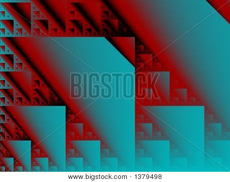 Red & Blue Triangle Background - Abstract Illustration