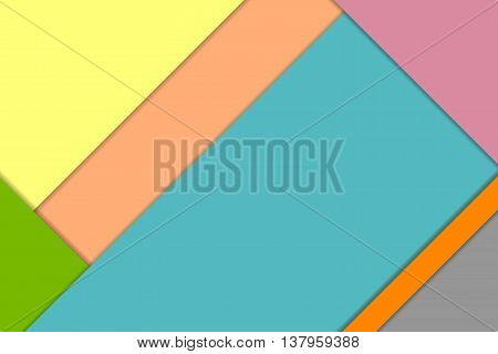 Vector material design background. Colorful abstract background. Material design template.