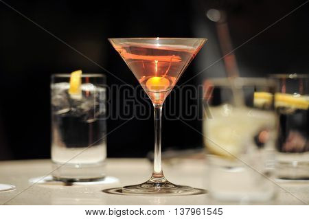 Cocktails In Bar