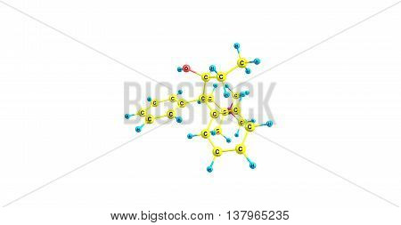 Betamethadol or betametadol is a synthetic opioid analgesic. It is an isomer of dimepheptanol. 3d illustration