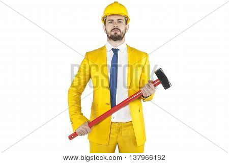 Portrait Of The Developer And His Work Tools
