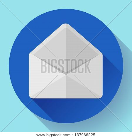 Open Envelope Mail Icon new letter sms message notification Flat 2.0 design style