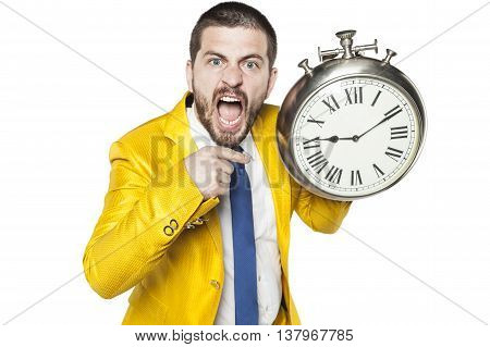 Businessman Is Angry With Those Who Are Late