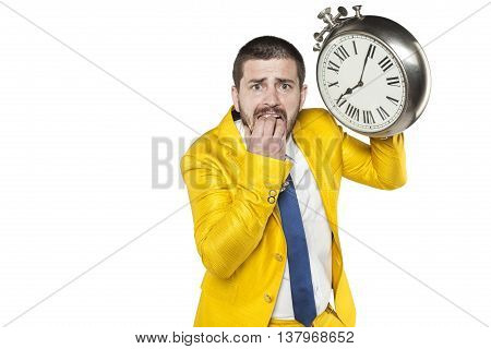 Terrified Employee Is Late For Work