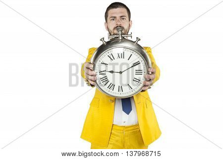 Businessman Realizes That Time Is Power
