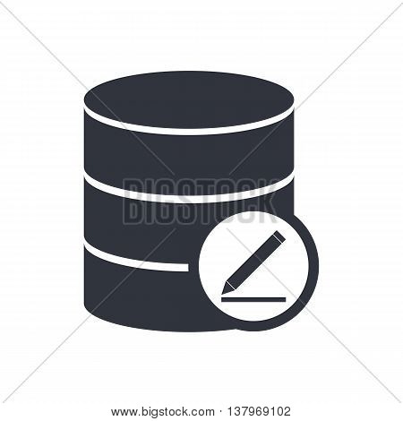 Database Modify Icon In Vector Format. Premium Quality Database Modify Symbol. Web Graphic Database