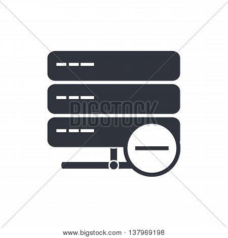Server Remove Icon In Vector Format. Premium Quality Server Remove Symbol. Web Graphic Server Remove