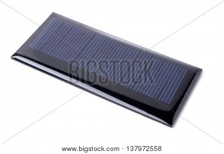 Solar cell panel isolated on white background.
