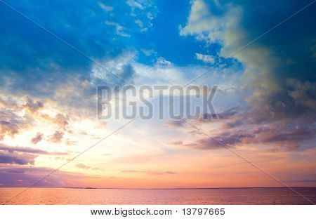 Cloudscape Sunset Background