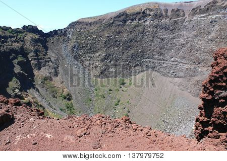 Vesuvius volcano crater. Italy, Naples, near Pompeii