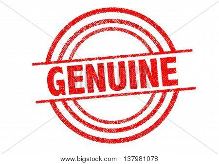 GENUINE Rubber Stamp over a white background.