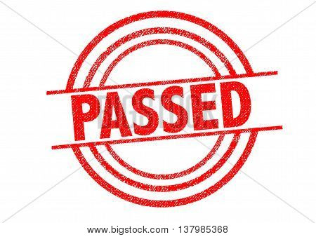 PASSED Rubber Stamp over a white background.
