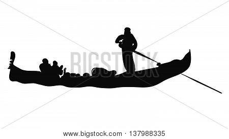 Gondola, Italian Love Taxi Sihouette