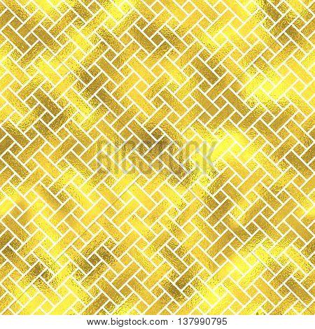 Vector seamless geometric textured golden pattern background poster