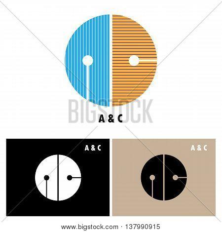 Creative AC-letter company logo design.AC-company group linked letter logo design.Vector illustration