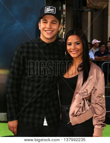 LOS ANGELES - JUL 9:  Austin Mahone, Katya Henry at the Ghostbusters Premiere at the TCL Chinese Theater IMAX on July 9, 2016 in Los Angeles, CA