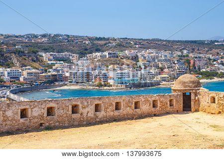 Venetian Fortress Fortezza In Rethymno On Crete, Greece