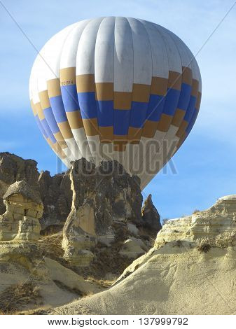 a captivating image of hot air balloons. colors and resolution are amazing. everything is more real than it looks