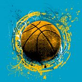 grunge basketball vector poster