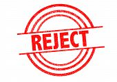 REJECT Rubber Stamp over a white background. poster