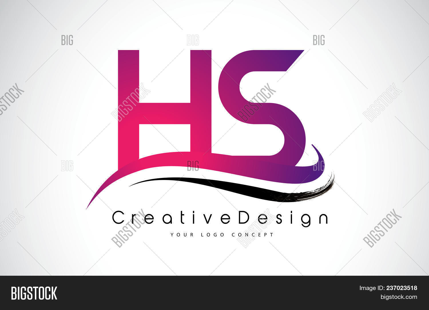 Hs H S Letter Logo Vector & Photo (Free Trial) | Bigstock