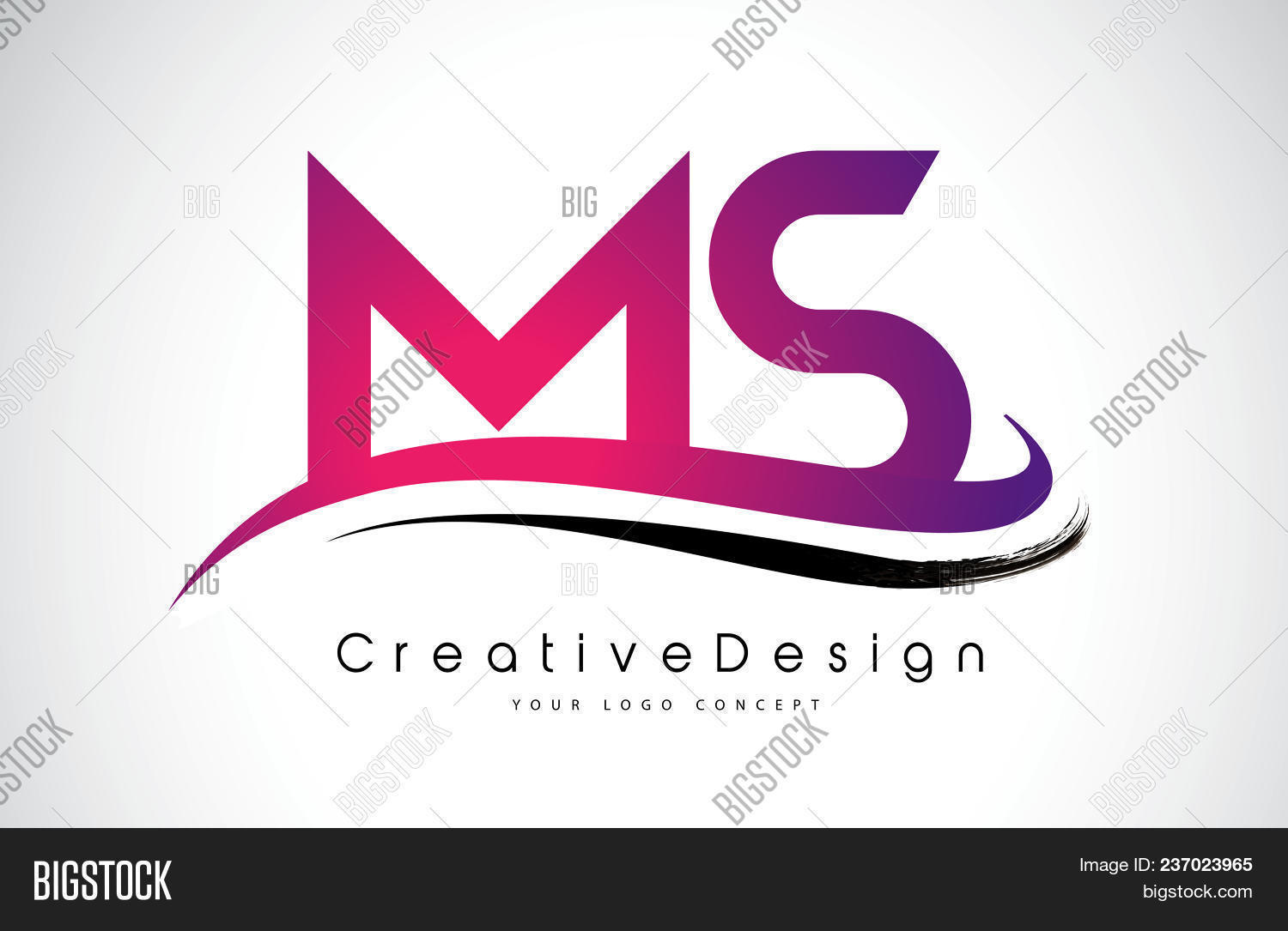Ms M S Letter Logo Vector & Photo (Free Trial) | Bigstock