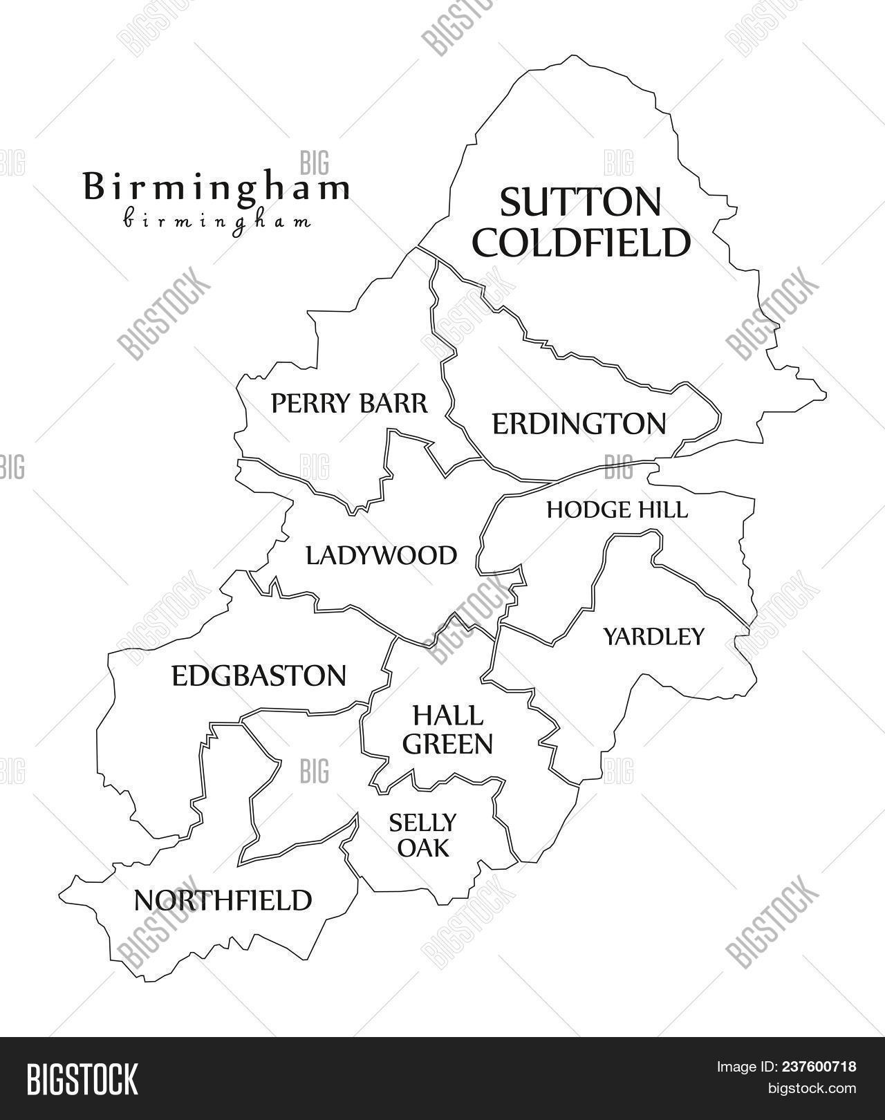 Big Map Of England.Modern City Map Image Photo Free Trial Bigstock